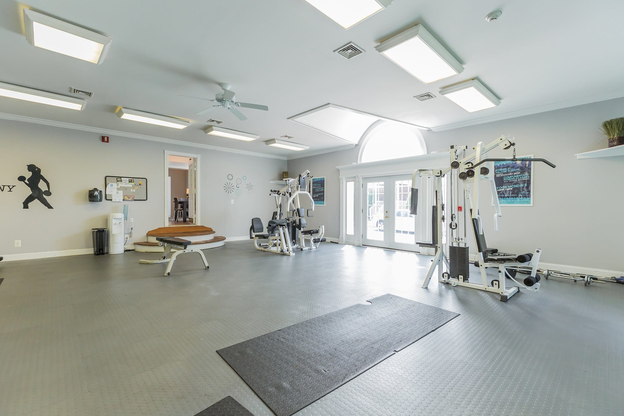 Gym Work Out Room at  Village Square Apartments in Mount Holly, NJ