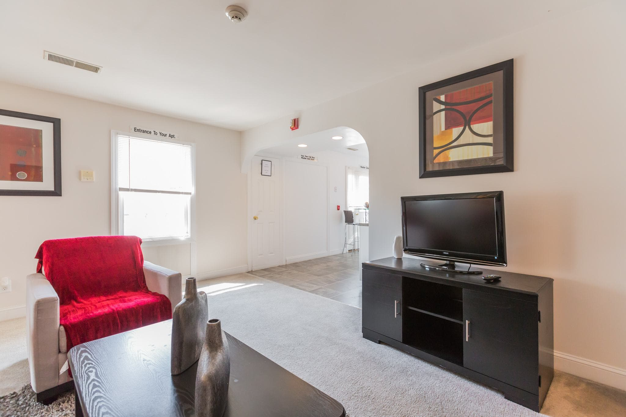 Television Room at Village Square Apartments in Mount Holly, NJ