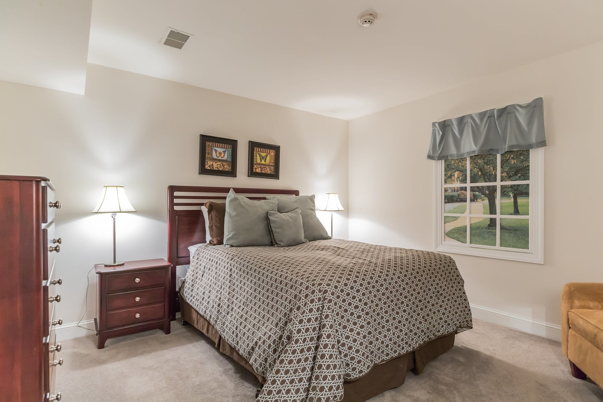 Bedroom at Village Square Apartments in Mount Holly, NJ