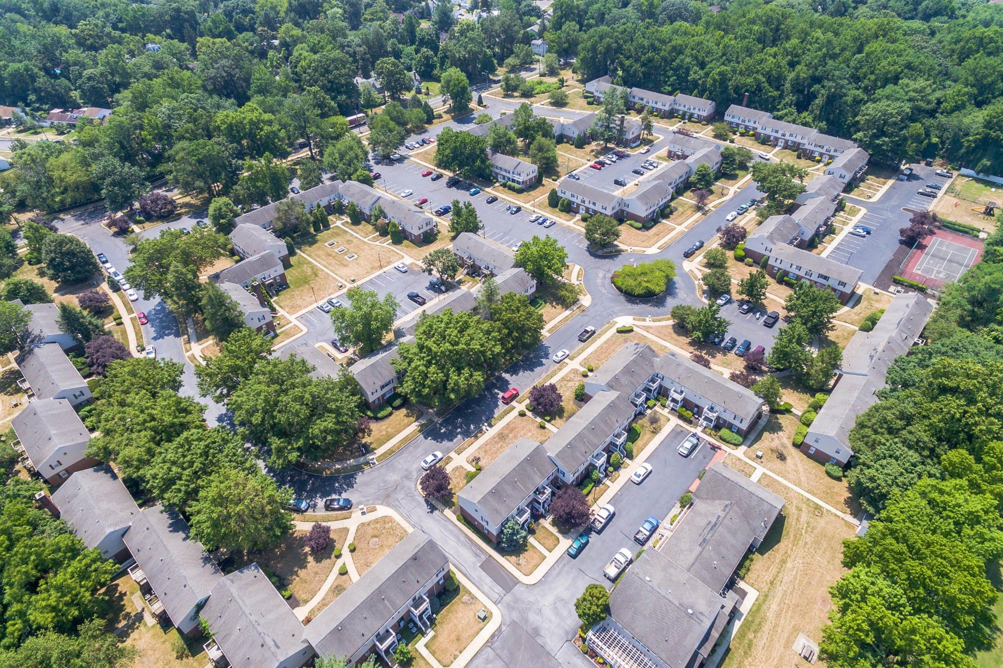 Aerial View of Village Square Apartments in Mount Holly, NJ