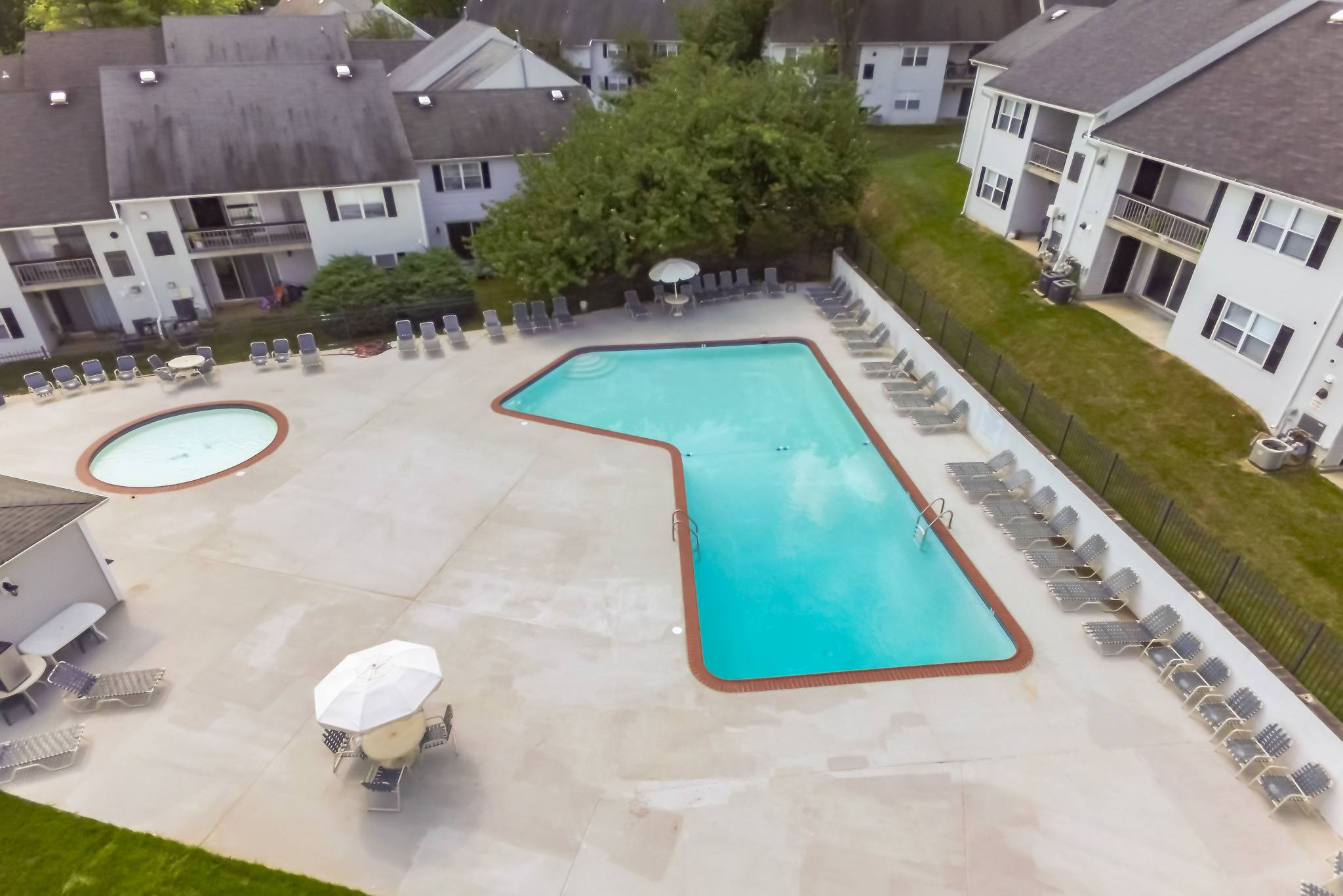 Aerial Pool View of Westgate Village Apartments  in Malvern, PA