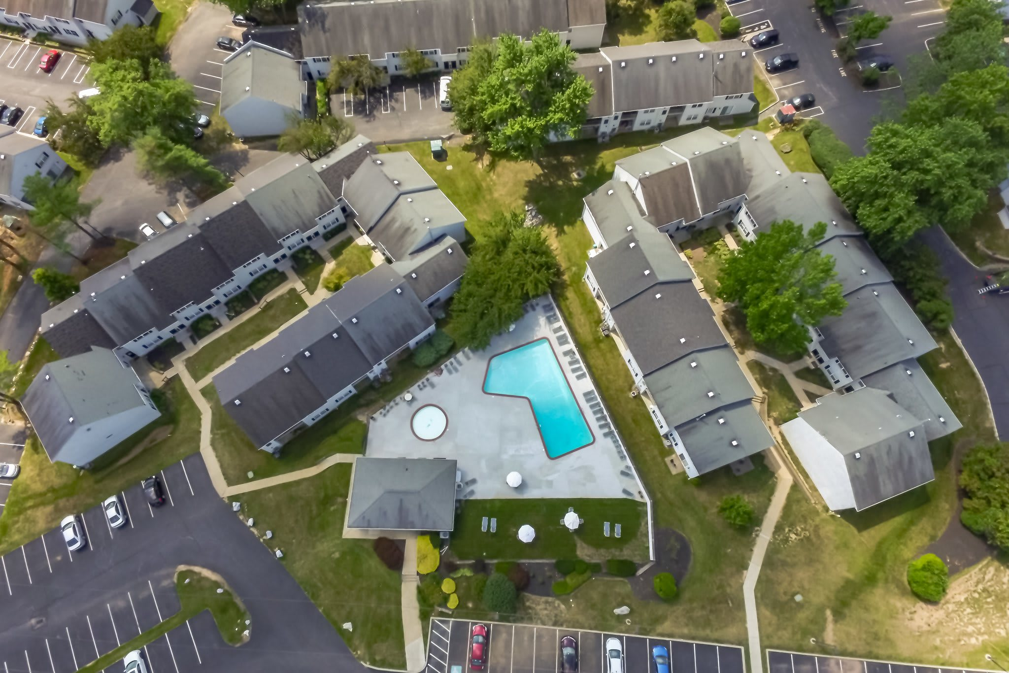 High Aerial View of Westgate Village Apartments  in Malvern, PA