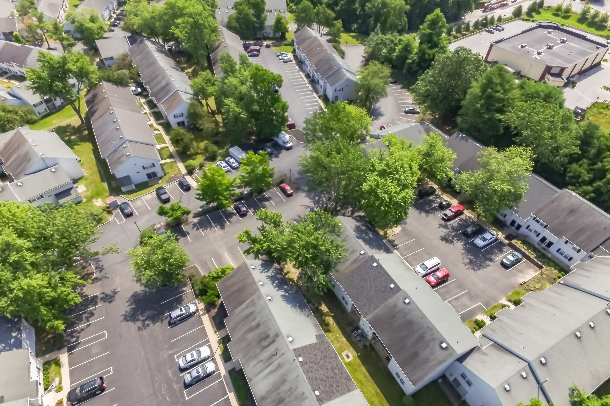Aerial Neighborhood view of Westgate Village Apartments  in Malvern, PA