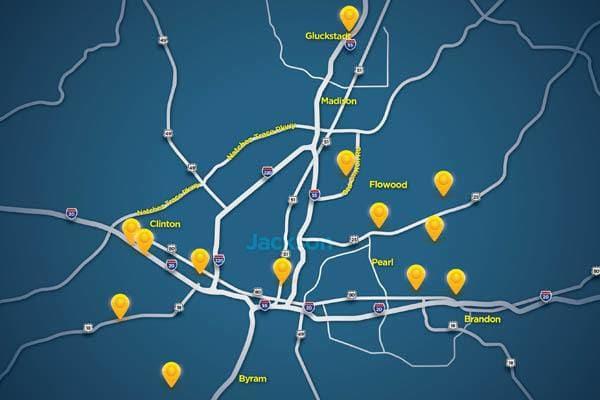 Locations in Metro Jackson