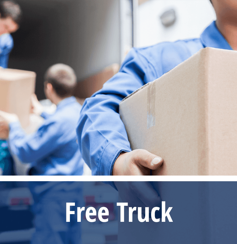 With qualifying unit rentals StorageMax Gluckstadt provides a free moving truck