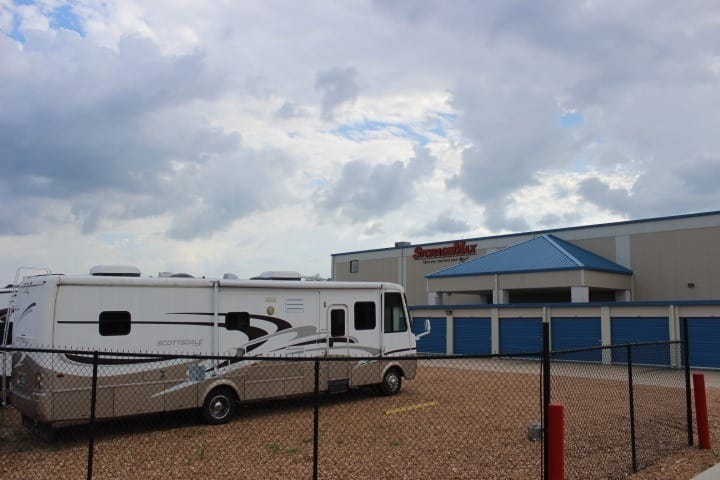 RV Parking at StorageMax Tupelo on Main