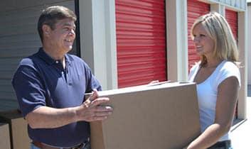 Enjoying moving and storing your items at StorageMax Clinton.