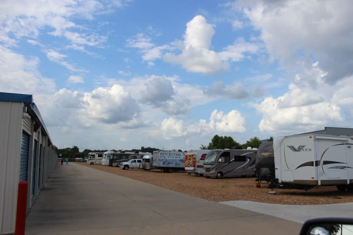 Park your RV here at StorageMax Gluckstadt