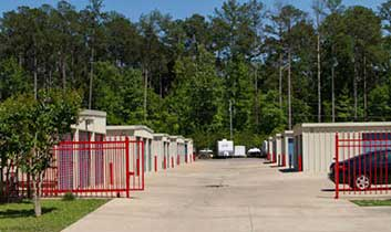 The gated entry at StorageMax Grants Crossing