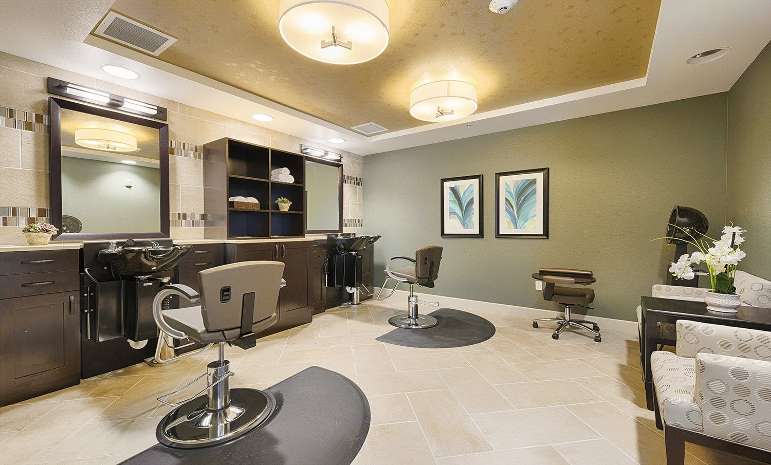 An onsite salon makes living at Kingston Bay Senior Living easy.