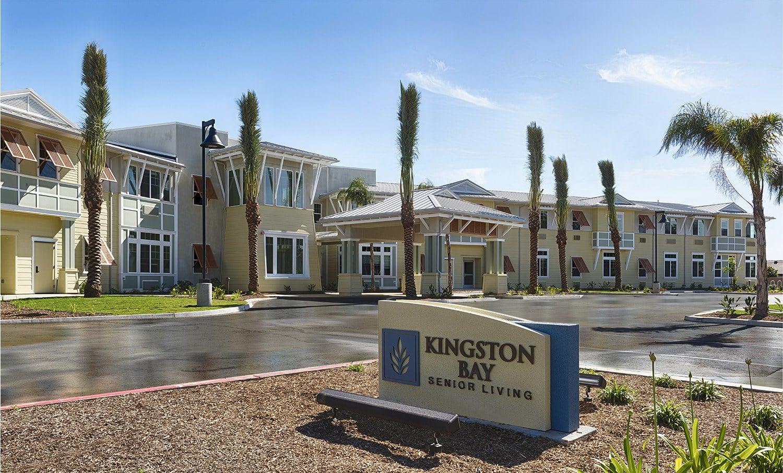 Front view of at Kingston Bay Senior Living in Fresno, California.