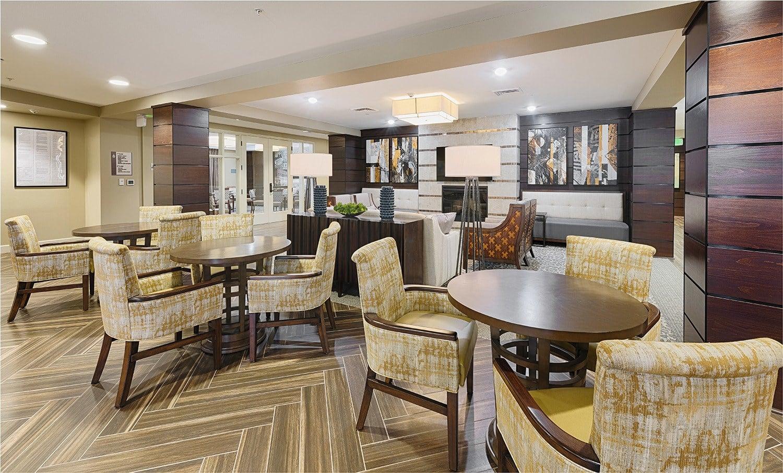 A spacious resident apartment at Kingston Bay Senior Living in Fresno, California.