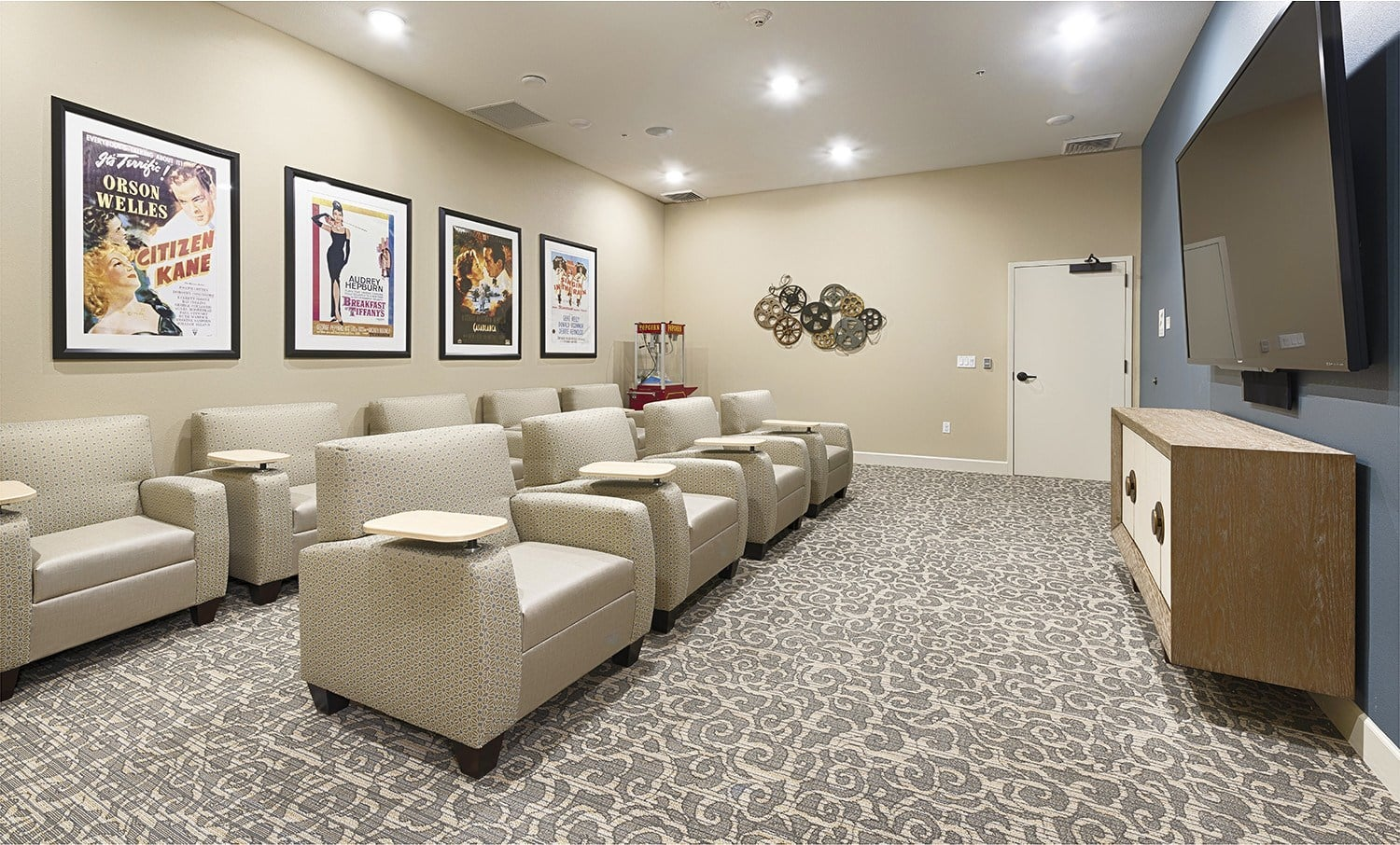 Entertain yourself and watch a movie at Kingston Bay Senior Living.