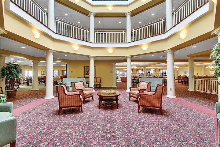 Atrium View At Our Senior Living Home In Blandon