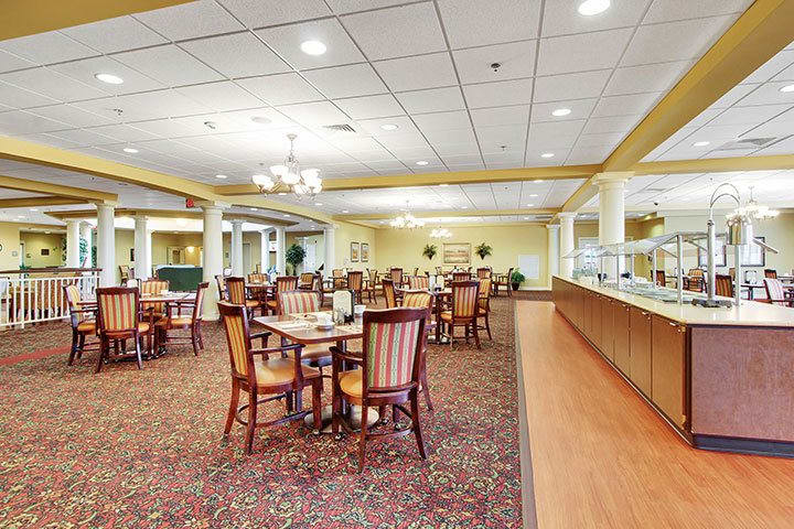 Dining Room At Our Senior Living Home In Blandon