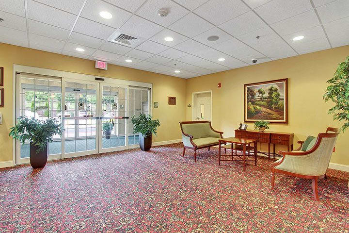 Lobby At Our Senior Living Home In Blandon