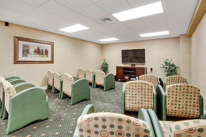 Theater At Our Senior Living Home In Blandon