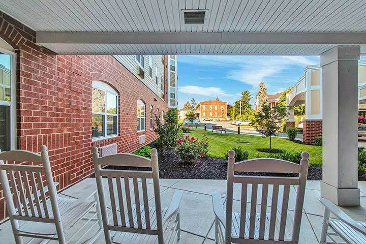 Front Patio At Our Senior Living Home In Ephrata