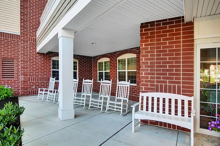 Front Patio Sitting At Our Senior Living Home In Ephrata
