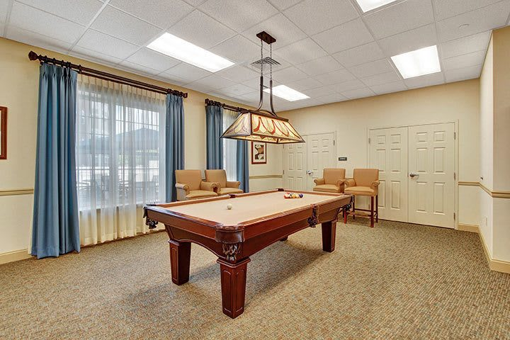 Game Room Billiards At Our Senior Living Home In Ephrata