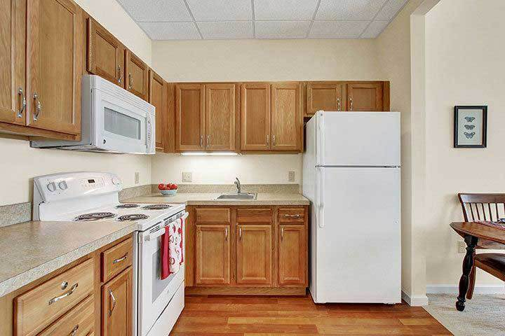 Independent Living Apt Kitchen At Our Senior Living Home In Ephrata