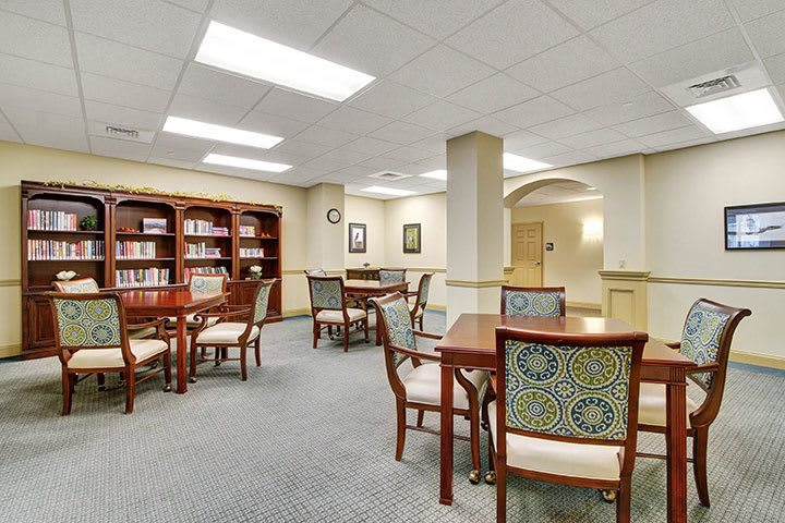 Library And Card Room At Our Senior Living Home In Ephrata