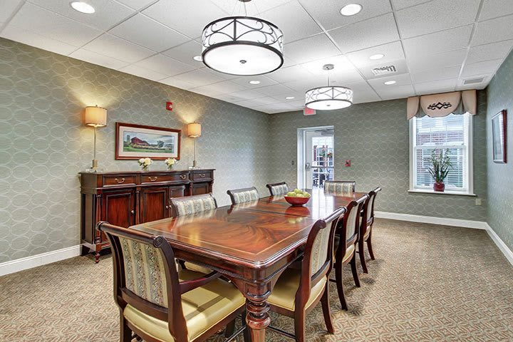 Private Dining Room At Our Senior Living Home In Ephrata