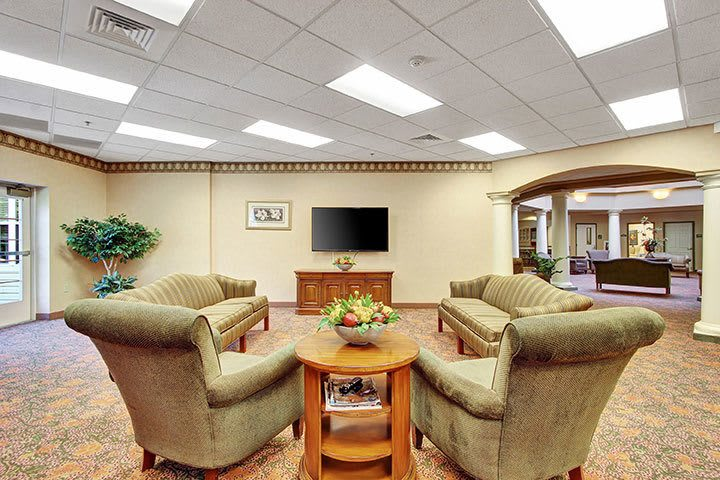 Community Living Room At Our Senior Living Home In Douglassville