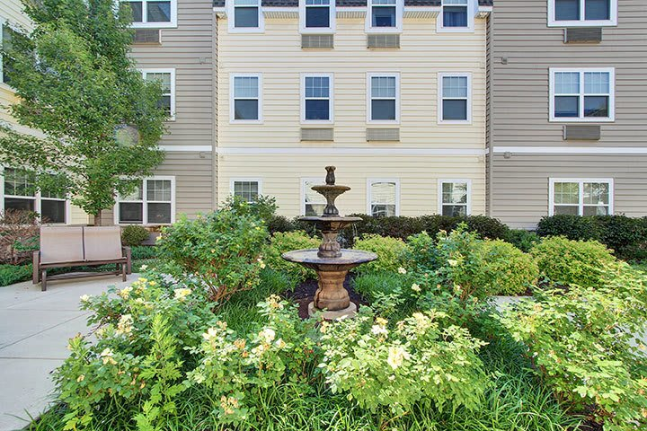 Courtyard At Our Senior Living Home In Douglassville