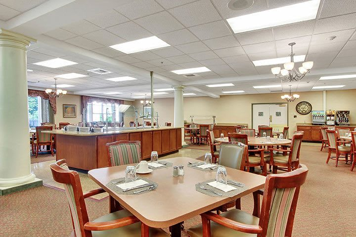 Dining Room Buffet At Our Senior Living Home In Douglassville