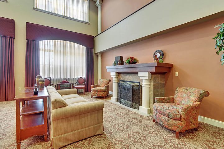 Fire Place At Our Senior Living Home In Douglassville