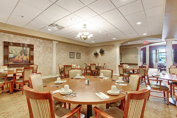 First Floor Dining Room At Our Senior Living Home In Douglassville