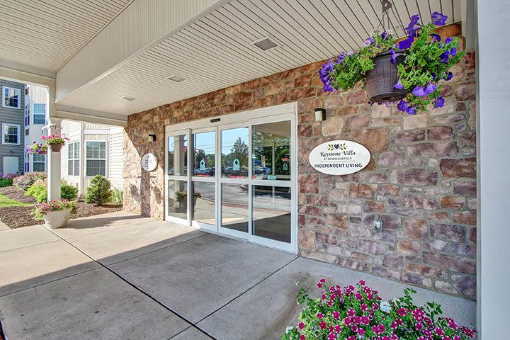 Front Entrance At Our Senior Living Home In Douglassville