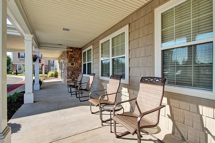 Front Patio At Our Senior Living Home In Douglassville