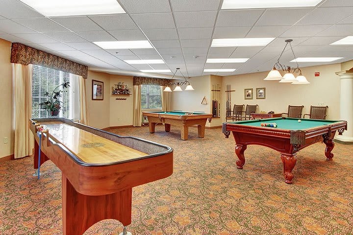 Game Room At Our Senior Living Home In Douglassville