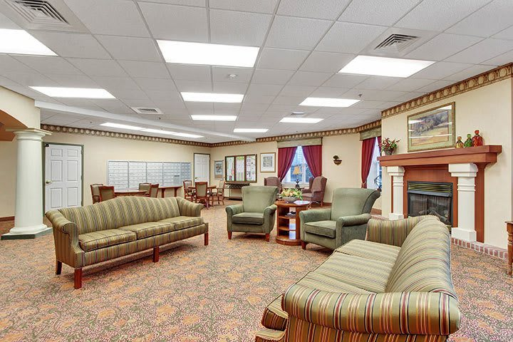 Living Room At Our Senior Living Home In Douglassville