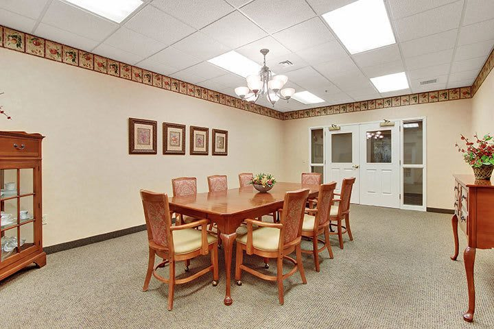 Private Dining Room At Our Senior Living Home In Douglassville