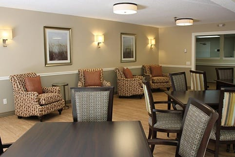 The dining area is fantastic at Sagebrook Senior Living at Bellevue