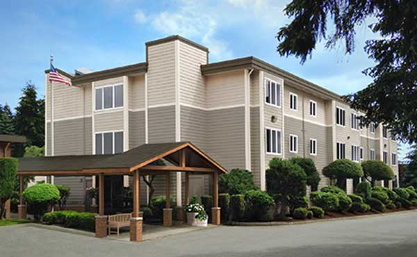 Exterior of Sagebrook Senior Living at Bellevue in Bellevue