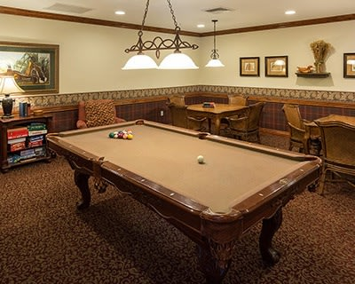 Billiard table at the senior living in Salt Lake City