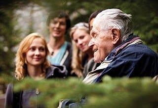 Residents enjoying sunshine at the senior living in Salt Lake City