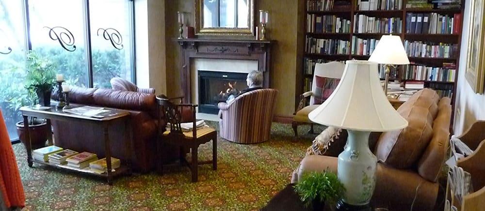 Salt Lake City senior living includes a cozy den.