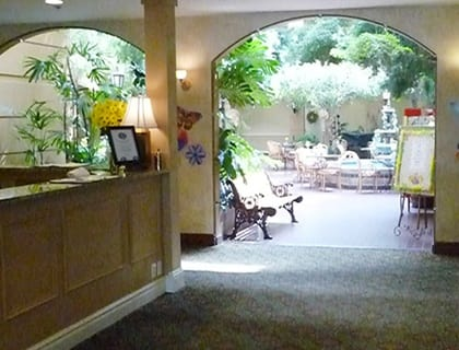 Lobby in Salt Lake City senior living.