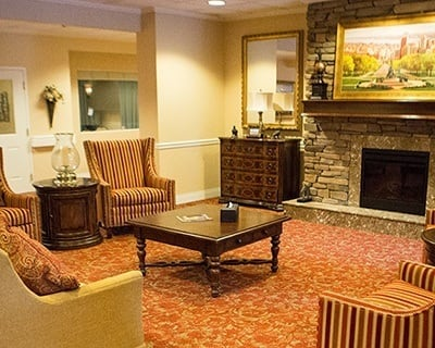 Common room at the senior living community in New Port Richey