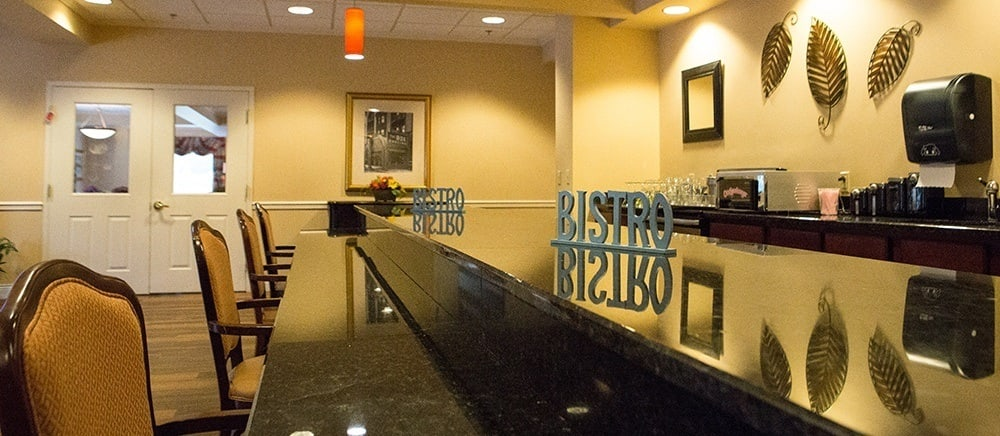 Senior living in Feasterville Trevose includes a bistro.