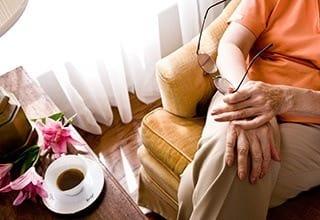 Resident relaxing in Little Rock senior living community