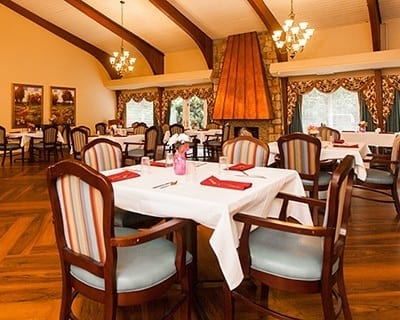 Dining room at the senior living community in Feasterville Trevose