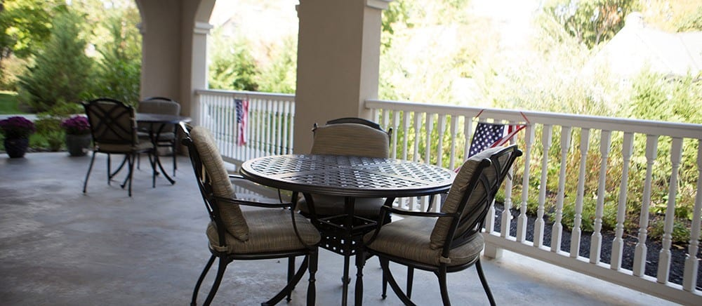 senior living includes a patio.