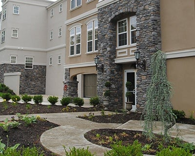 Welcoming front entrance at the senior living in Bala Cynwyd