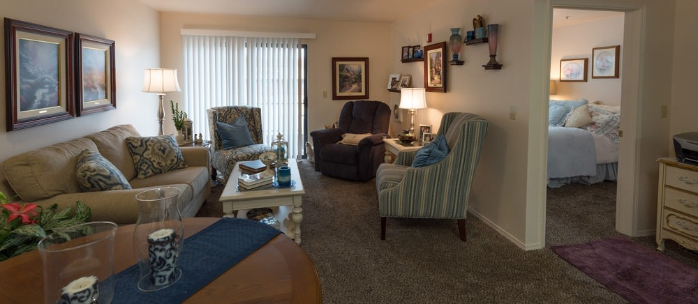 Saint George senior living includes spacious apartments.